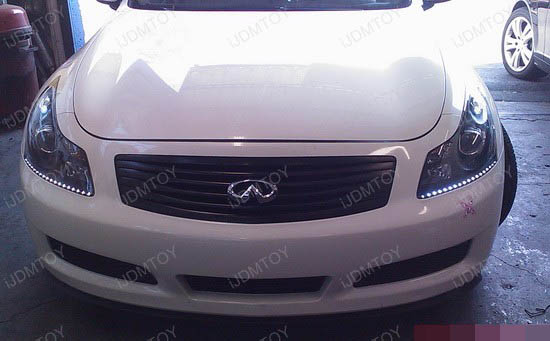 Infiniti - G35 - LED - strip - headlights - 4